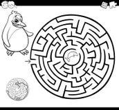 Labirynt lub labitynt kolorystyki strona ilustracja wektor