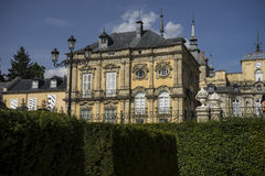 Labirynt, Palacio de los angeles Granja De San Ildefonso w Madryt, Hiszpania Jest Zdjęcie Stock
