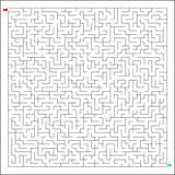 Labirynth difícil y duro del vector Foto de archivo libre de regalías