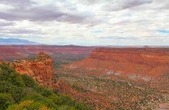 Labiryntu okręg Canyonlands park narodowy w Utah Obraz Royalty Free