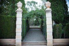 Labiryntu park w Barcelona Zdjęcie Stock