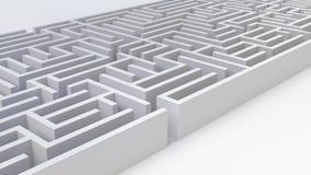 Labiryntu rozwiązania wyzwania strategii decyzji 3D powikłana problemowa biznesowa ilustracja ilustracja wektor