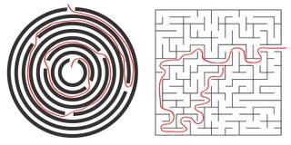 Labityntów, kurendy i kwadrata labitynt, Z labityntu royalty ilustracja