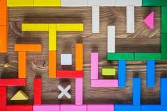 Labitynt kolorowi drewniani bloki obraz royalty free