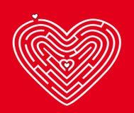 Labitynt w formie serce w czerwieni Zdjęcie Stock