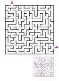 Labityntu labiryntu gra z rozwiązaniem Znalezisko ścieżka Fotografia Royalty Free