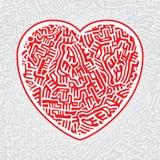 Labityntu serce bezszwowy Zdjęcie Royalty Free