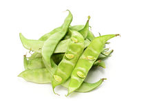 Lablab bean or Dolichos bean on white background Royalty Free Stock Photos