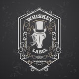 lable的威士忌酒 库存照片