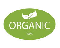 Lable organico immagine stock