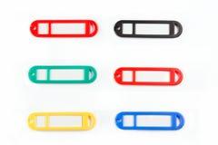 Lables coloreados Fotografía de archivo libre de regalías