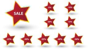 Lables da venda do inverno Fotografia de Stock Royalty Free