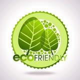 Lables de Eco, hojas en círculo Foto de archivo