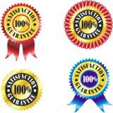 Lables de garantie de satisfaction Photographie stock libre de droits
