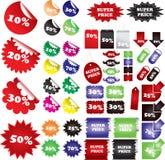 Lables del precio Foto de archivo libre de regalías