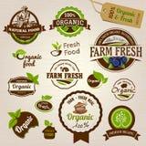 Lables orgánicos - ejemplo stock de ilustración