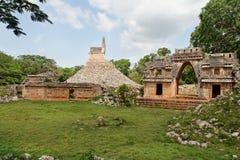 labna玛雅墨西哥寺庙尤加坦 免版税库存照片