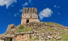 Labna archaeological site in Yucatan Peninsula, Mexico. Royalty Free Stock Images