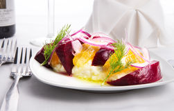 Labneh Citrus Salad Royalty Free Stock Images