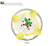 Labneh or Emirati Cream Cheese with Sour Flavor Royalty Free Stock Image