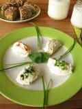 Labneh fresco - yogurt filtrato Fotografia Stock Libera da Diritti