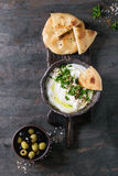 Labneh fresh lebanese cream cheese dip Royalty Free Stock Image