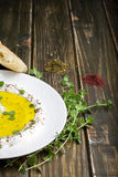 Labneh (Strained yogurt) with Za'atar Stock Photo
