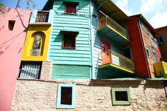LaBoca, περιοχή στο Μπουένος Άιρες στοκ εικόνες