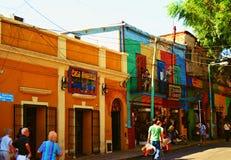 LaBoca, район на Буэносе-Айрес стоковая фотография