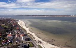 Laboe from above Stock Photo