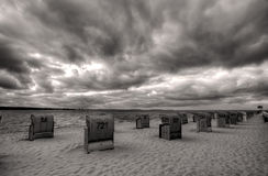 Laboe Beach and Sky Royalty Free Stock Photos