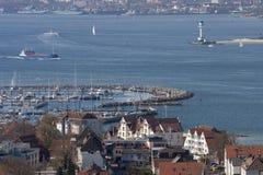 Laboe Jachthafen lizenzfreies stockbild