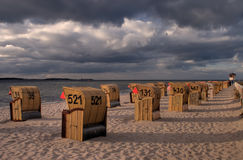 Laboe late afternoon. Laboe (Kiel, Germany) in late afternoon glow Stock Photos