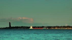 Laboekustlijn bij zonsondergang, Kiel, Duitsland, timelapse stock videobeelden