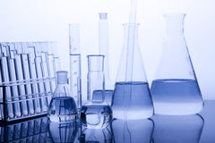 labolatory的玻璃器皿 库存照片
