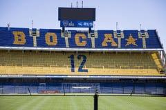 LaBombonera stadion av Boca Juniors i Argentina royaltyfri foto