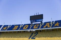 LaBombonera stadion av Boca Juniors i Argentina arkivfoton