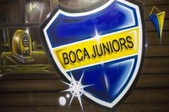 LaBombonera stadion av Boca Juniors i Argentina royaltyfri fotografi