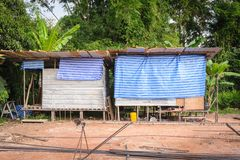 Labor accommodation camp in building site. Stock Photography