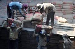Labor activity in Sunda Kelapa Harbor Royalty Free Stock Photography