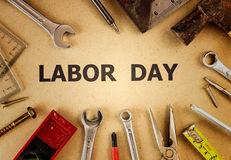 Labor background - text on brown background Stock Photo