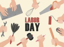 Happy Labor Day Celebration. Happy Labor Day Postcard or Poster or Flyer Template. Happy Labor Day Vector Illustration. vector illustration