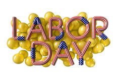 Labor Day. USA flag text Royalty Free Stock Photos