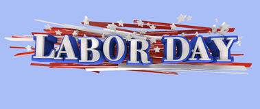 Labor Day. American flag text Royalty Free Stock Photography