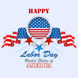 Labor day, abstract computer graphic background with flags and stars Stock Photo