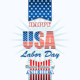 Labor day, abstract computer graphic design with flag and stars Royalty Free Stock Photography
