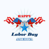 Labor day, abstract computer graphic design with flags and stars Royalty Free Stock Photos