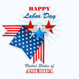 Labor day, abstract computer graphic design with flags and stars Stock Photo
