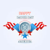 Labor day, abstract, computer, graphic design with hammer and wrench Royalty Free Stock Photography