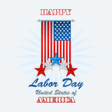 Labor day, abstract, graphic background with flag and stars Stock Photos